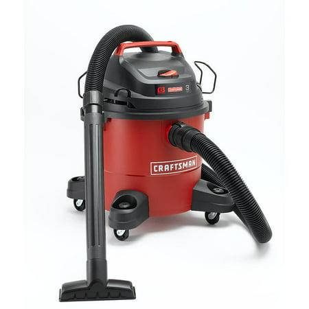 - Craftsman Vacuum Cleaner Blower 6 Gallon 3 Peak HP Wet Dry Vac Vacs Cartridge Filter Foam Filter Utility Nozzle Hose Bracket Set 12004
