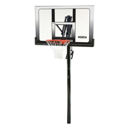 Lifetime Adjustable In-Ground Basketball Hoop (52-Inch),