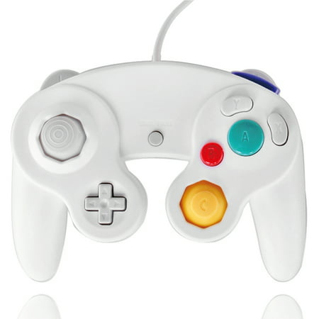 GameCube Controller Nintendo GC and Wii Compatible GameCube Video Game Console Remote Classic Wired Gaming Joystick Gamepad Joypad NGC Replacement Accessories (White) (Gamecube Joystick)