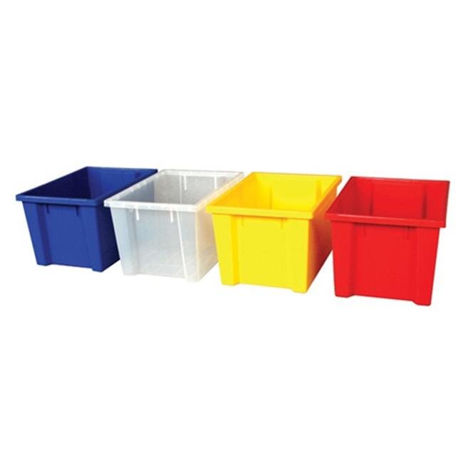 Early Childhood Resource ELR-0722-CL Colorful Essentials Large Storage Bin Clear by Early Childhood Resource,LLC
