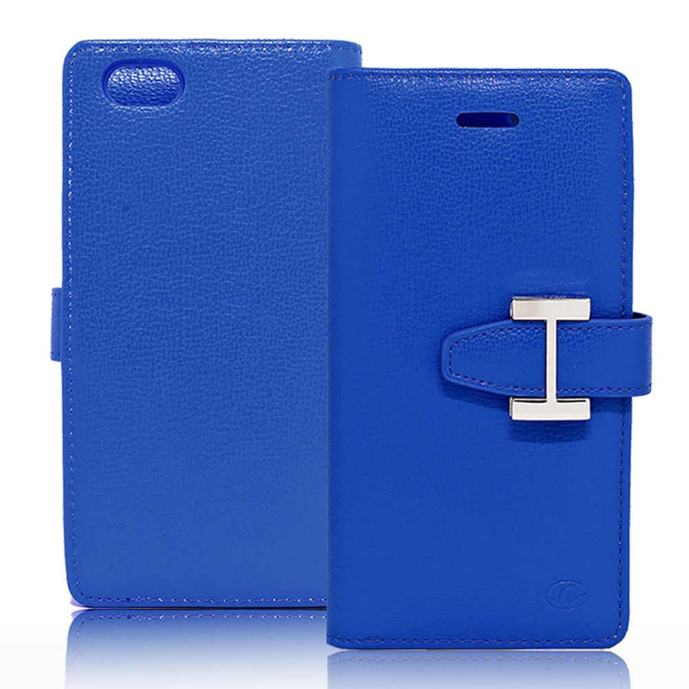 IPhone 6 / 6S Plus Luxury Leather Wallet Pouch Case Cover Blue