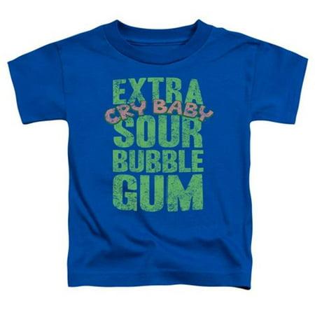 Trevco Dubble Bubble-Extra Sour - Short Sleeve Toddler Tee - Royal, Medium 3T - Purple Sour