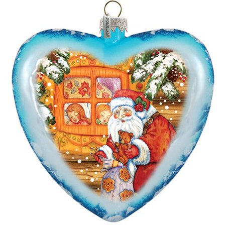 G Debrekht Holiday Limited Edition Christmas Night Glass Ornament