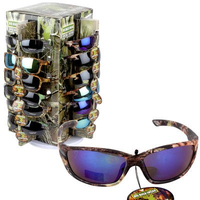 New 204173  Camo Sunglasses On Spinner - Asst (36-Pack) Fashion Accessories Cheap Wholesale Discount Bulk Apparles. Fashion Accessories Reading (Wholesale Fashion Sun Glasses)