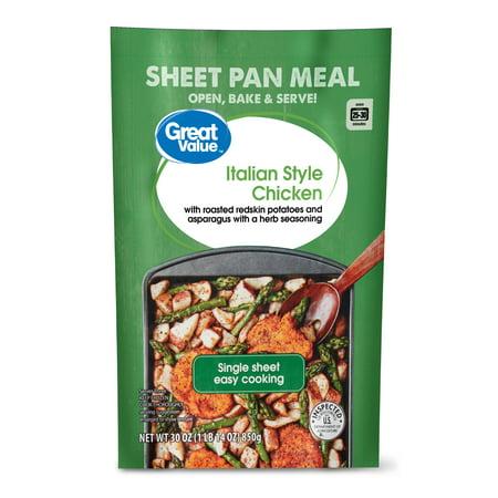 Great Value Italian Style Chicken Sheet Pan Meal 30 Oz Walmart