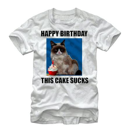 Grumpy Cat Men's This Cake Sucks T-Shirt (Halloween Grumpy Cat Meme)
