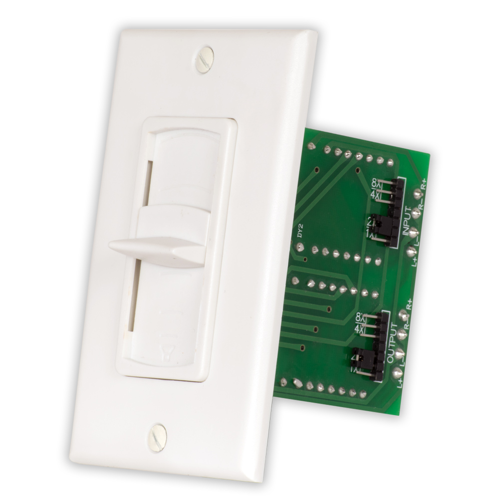 Acoustic Audio AAVCSW Home White Slide Speaker Volume Control Wall Mount