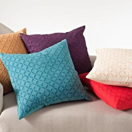 Applique Sheeting Decorative Throw Pillow Eggplant - Walmart.com