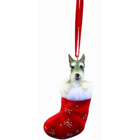 Little Stockings (Schnauzer Christmas Stocking Ornament with