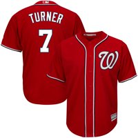 Trea Turner Washington Nationals Majestic Big & Tall Alternate Cool Base Replica Player Jersey - Scarlet