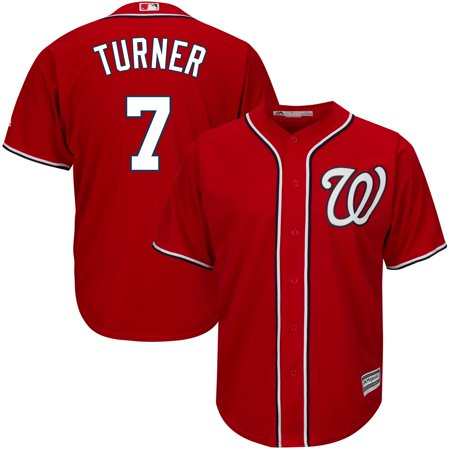 Trea Turner Washington Nationals Majestic Big & Tall Alternate Cool Base Replica Player Jersey - Scarlet