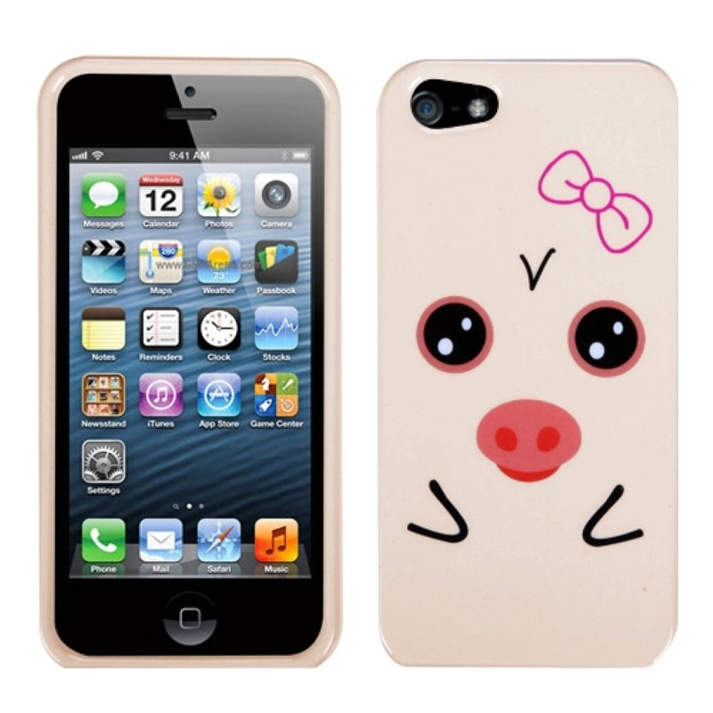 Insten Pig Hard Case For Apple iPhone 5/5S/SE - Beige