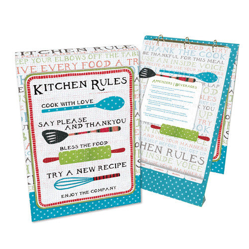Lang Kitchen Rules Vertical Recipe Card Ring Album