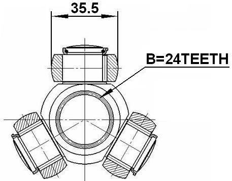 Febest 2716 C30 Spider Assembly Slide Joint 24x35 5 Alfa Romeo Mito