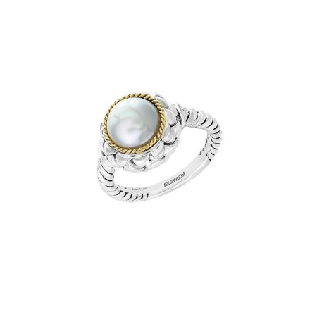 925 Sterling Silver, 18K Yellow Gold & 9mm Round Freshwater Pearl