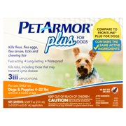 PetArmor Plus Flea and Tick Squeeze-On Treatment for Small Dogs, 3 Ct