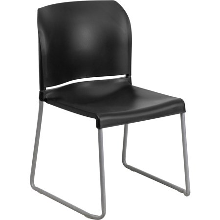 Flash Furniture HERCULES Series 880 lb. Capacity Full Back Contoured Stack Chair with Sled Base, Multiple Colors ()