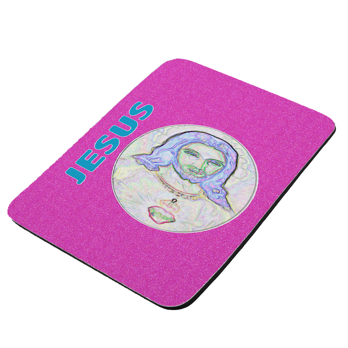 Electric Jesus Pink - KuzmarK Mousepad / Hot Pad / Trivet