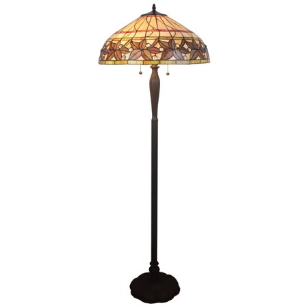 Christel 3 light multi color 20 leafy tiffany style floor lamp christel 3 light multi color 20 leafy tiffany style floor lamp aloadofball Image collections