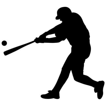 Wallmonkeys Wallmonkeys Sports Silhouette Baseball Peel and Stick Wall Decals WM279825 (12 in W x 11 in - Baseball Award Decals