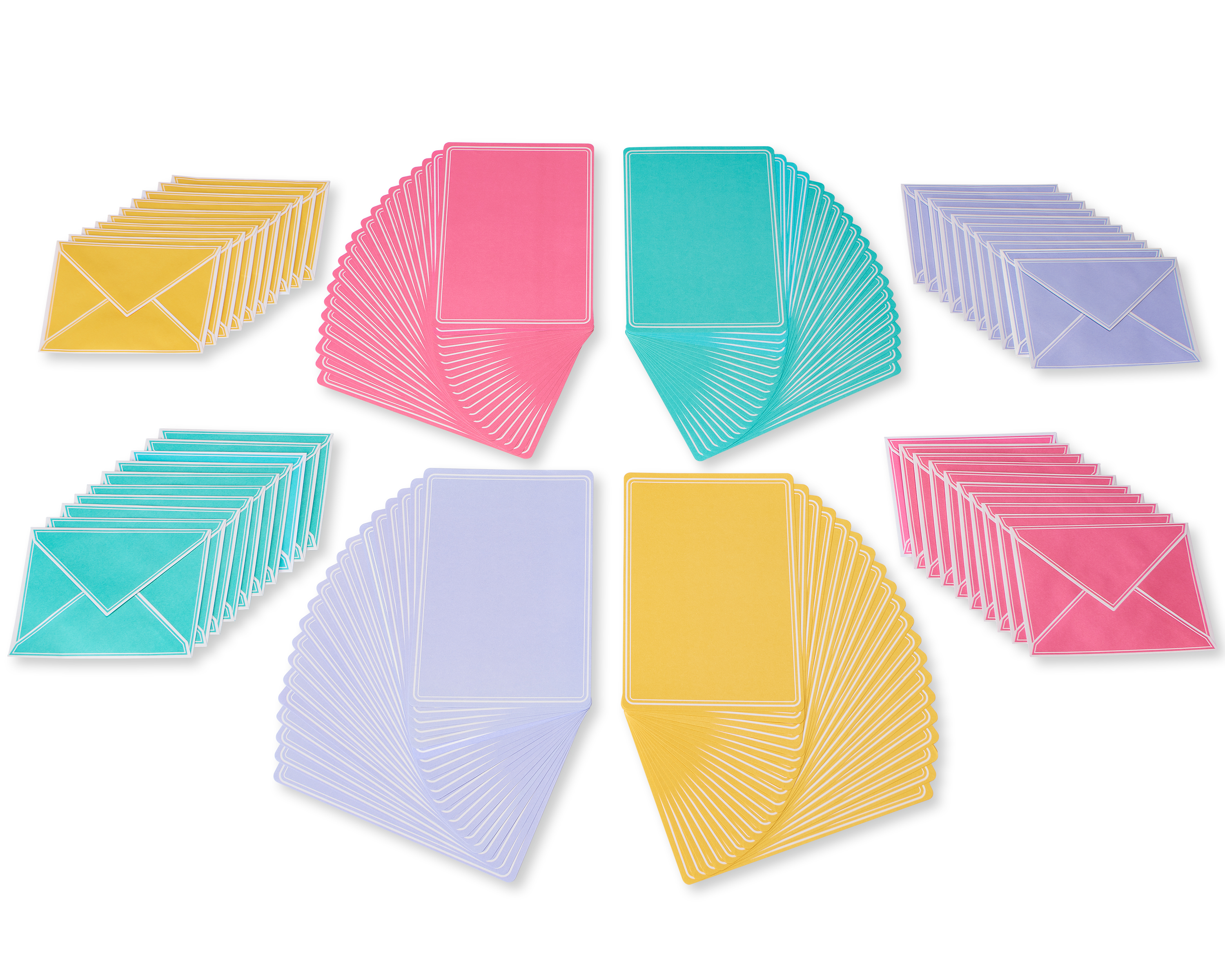 American Greetings Pastel Stationery Sheets And Colored Envelopes