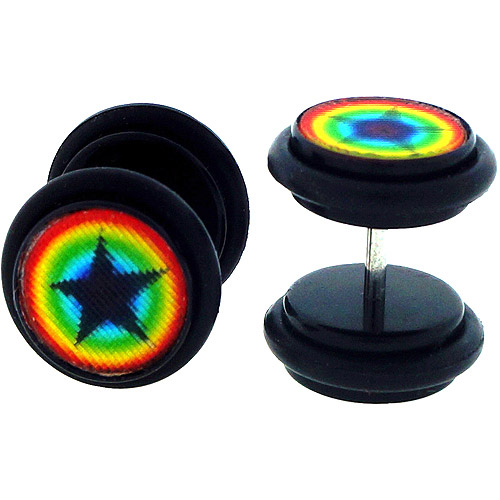 Body Magic Stainless Steel 3D Hologram Illusion Plugs