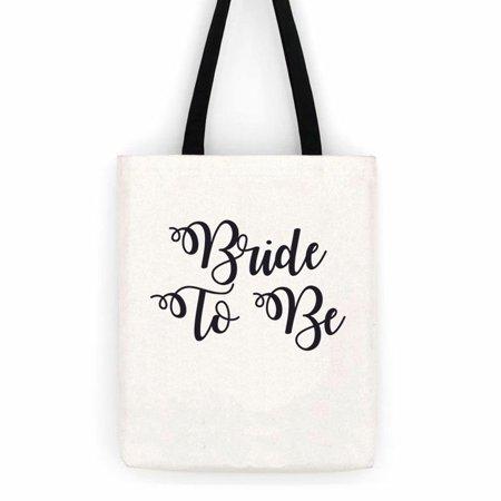 Bride To Be Wedding  Cotton Canvas Tote Bag  Special Day Trip - Wedding Totes