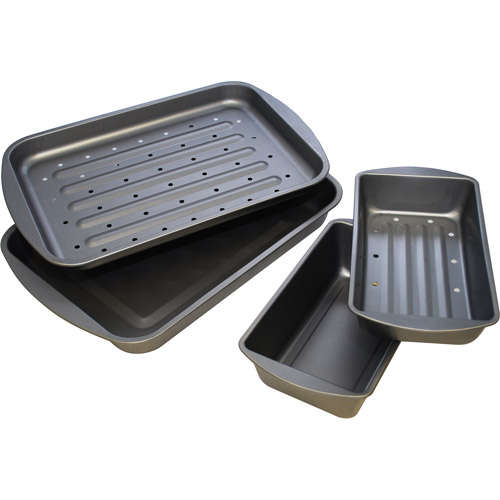 BakerEze 4pc Nonstick Bake, Broil, and Roast Set