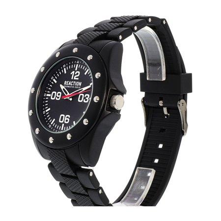 Kenneth Cole 10031712 Black Rubber Quartz Fashion Watch - image 2 de 3