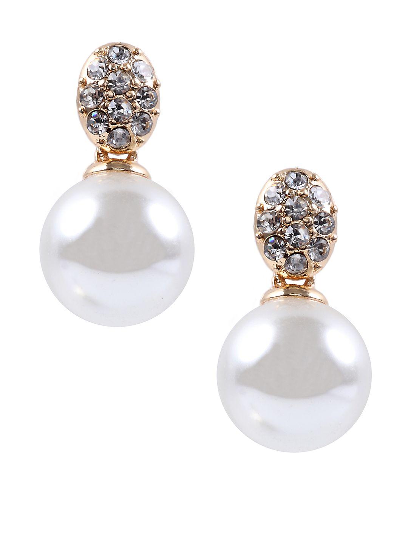 Crystallized Pearl Drop Earrings
