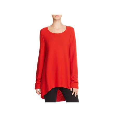 178d26e375d3 Eileen Fisher - Eileen Fisher Womens Petites High Low Round Neck Tunic  Sweater - Walmart.com