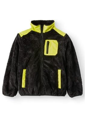 Bocini Sherpa Fashion Jacket with Nylon Yoke (Little Boys & Big Boys)