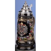 Deutschland Germany Colorful Eagle with State Crests LE German Beer Stein .6L