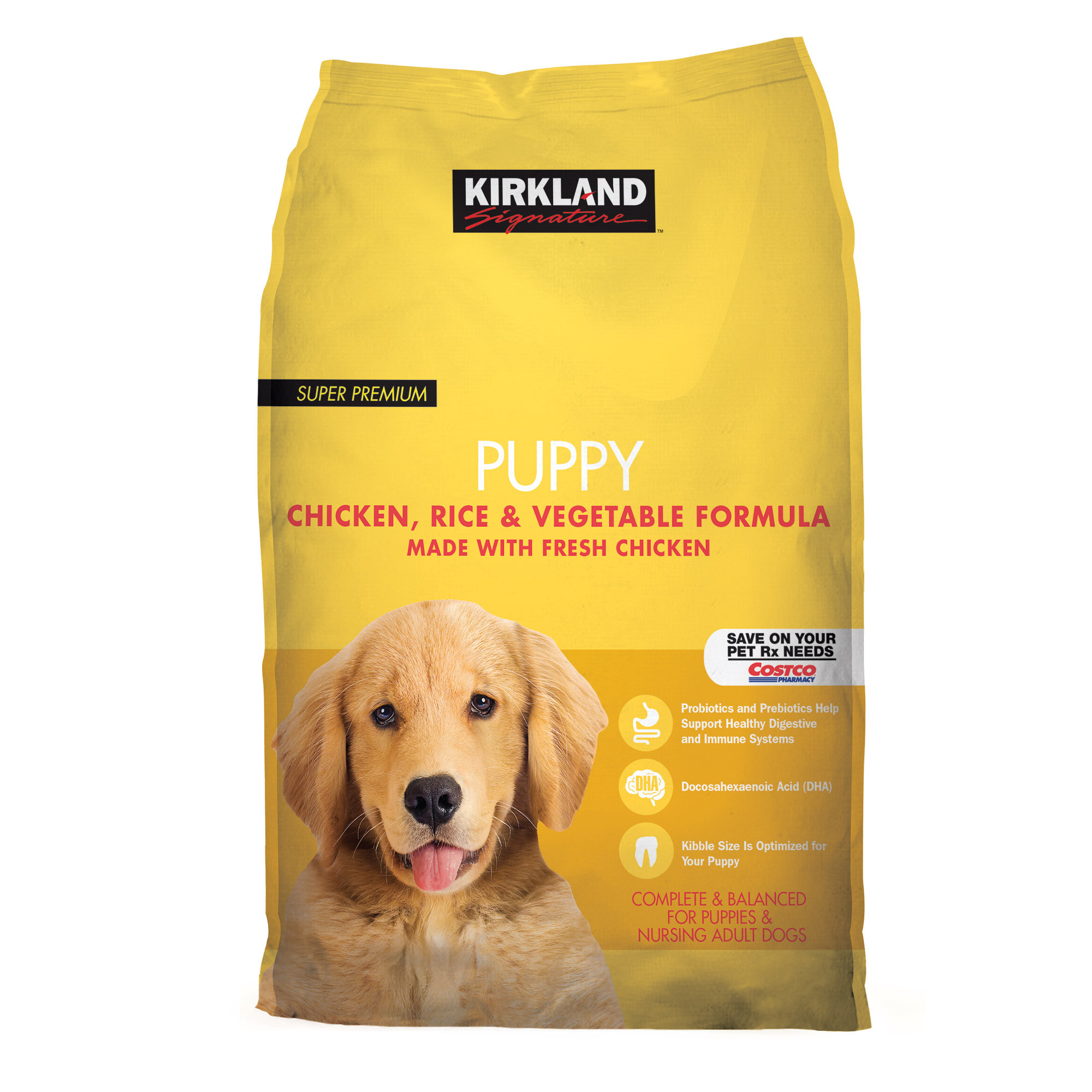 Kirkland Signature Chicken Rice and Vegetable Pupppy Food...