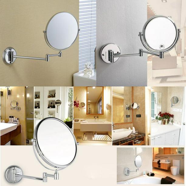 Swivel Extendable 10x Magnification, Extendable Bathroom Mirror