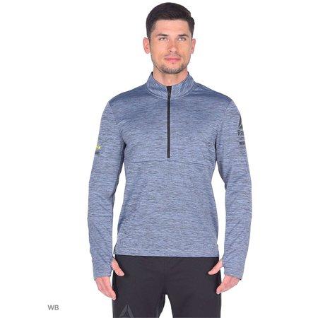 Reebok Men Atletic Clothing One Series Running Long Sleeve 1/2 Zip Hoodie