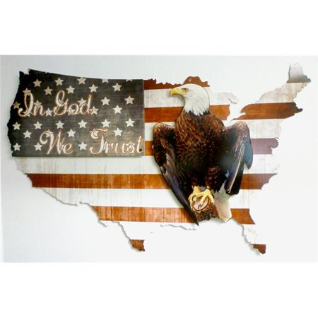 35' Diameter Color - 3-D in God We Trust USA Sign - 35 x 21 in.