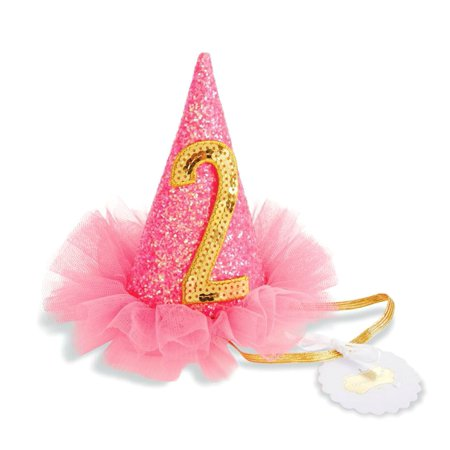 2nd Birthday Party Girls Sequined Hat One Size