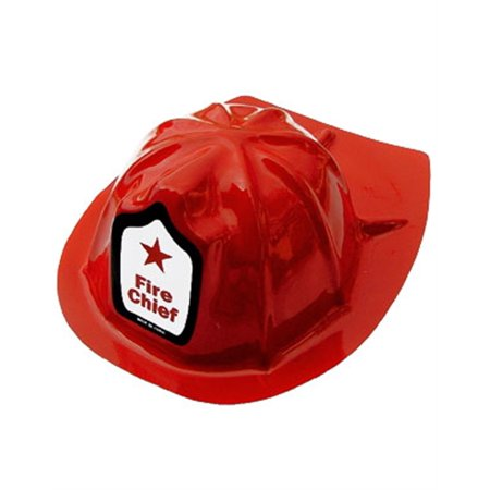 Set of 12 Adult Plastic Fireman Costume Fire Chief Helmets - Chiefs Hats