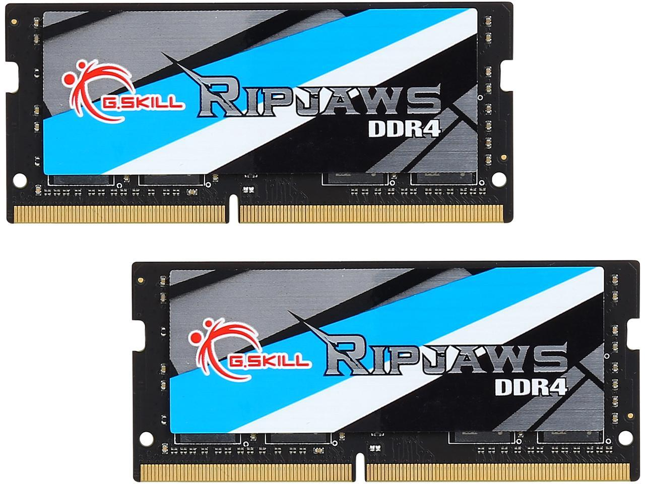 G.SKILL Ripjaws 16GB (2 x 8G) 260-Pin DDR4 SO-DIMM DDR4 2800 (PC4 22400) Laptop Memory Model F4-2800C18D-16GRS