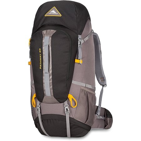 High Sierra Pathway 60L Backpack Black/Slate/Gold