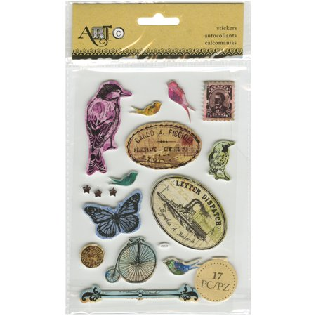 Momenta Foam Stickers Inspire Vintage Birds