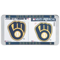 Milwaukee Brewers WinCraft License Plate Frame, Magnet & Multi-Use Decal Set