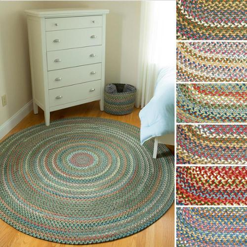 Charisma Indoor Outdoor 6-foot Round Braided Rug by Rhody Rug Peridot by Overstock