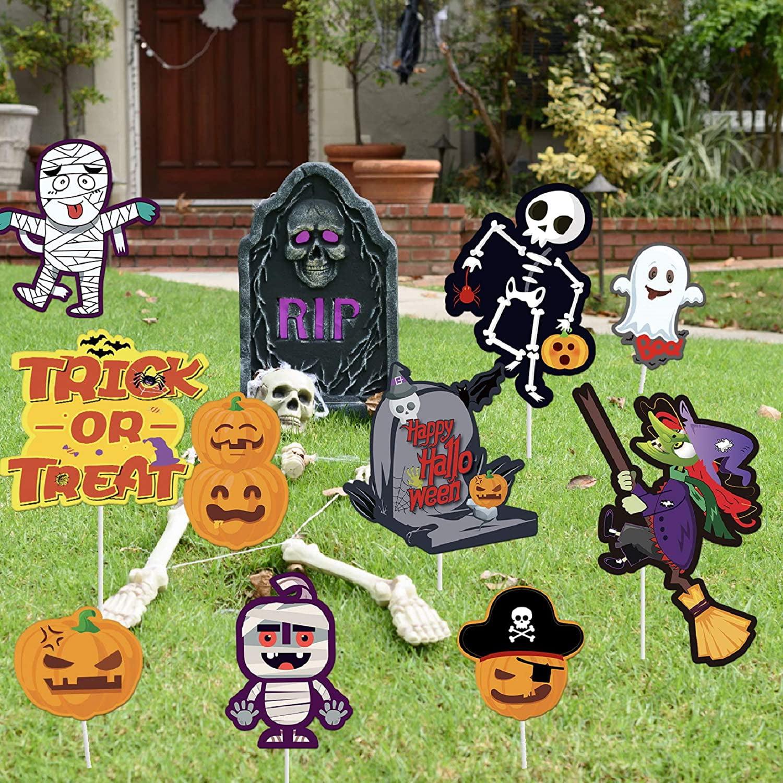 Happy Halloween /& Pumpkin Banners Set for Halloween Outdoor Indoor Party Decoration