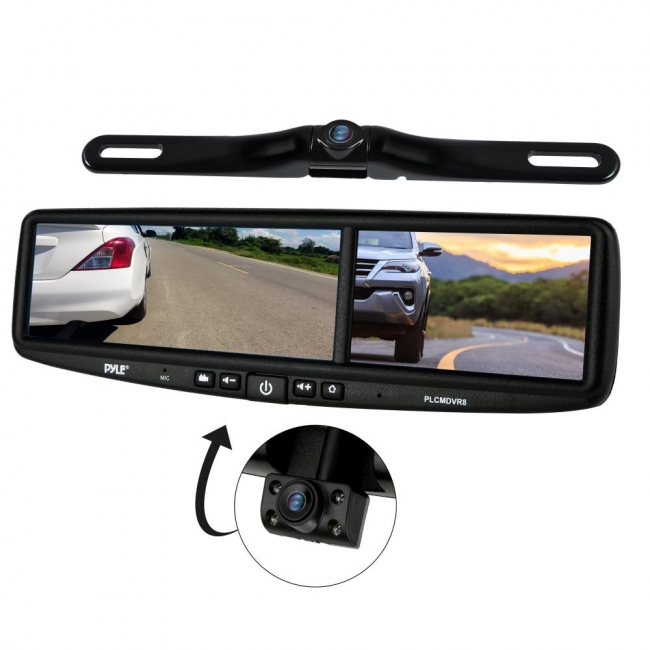 Pyle Backup Camera >> Pyle Hd Vehicle Backup Camera System Dvr Dual Camera Rearview