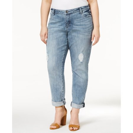 9e8586dd260 Kut From The Kloth - Kut From The Kloth Plus Size Catherine Destructed  Boyfriend Jeans - Walmart.com