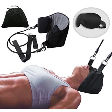 EZGD Head Hammock for Neck Pain Relief Cervical Traction Relaxation Stretcher Device for Neck & Shoulder Therapy with Free Eye Shades