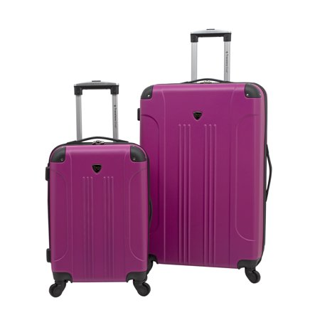 2 pc. Expandable hard-side luggage set - - Trolley Silver Hardside Luggage