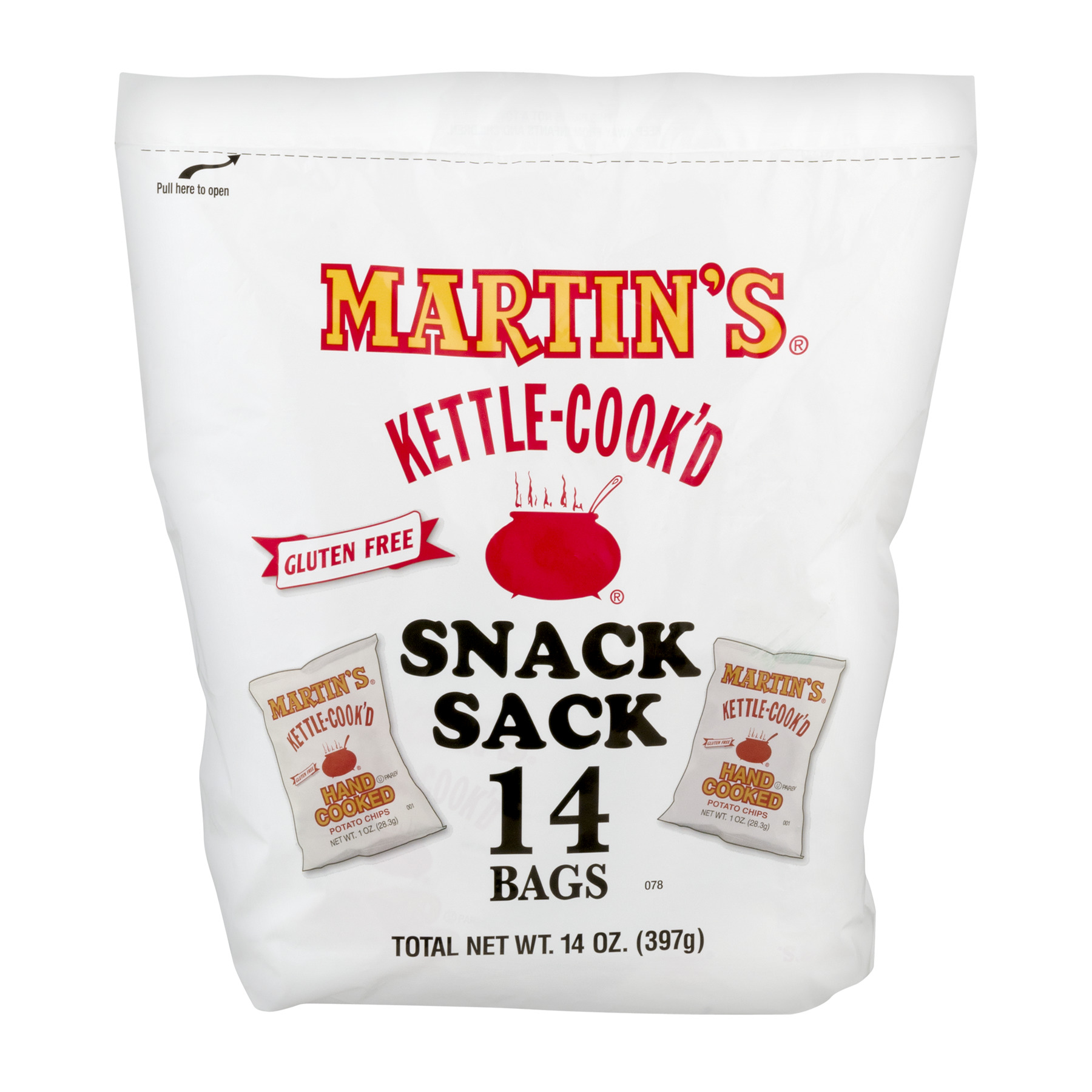 Martins Potato Chips Martins  Snack Sack, 18 ea